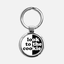 big_cookie_no_white Round Keychain