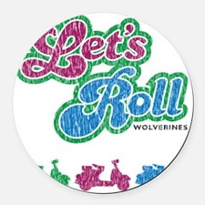 letsrolldistressed Round Car Magnet