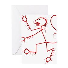 Rampant Lion Greeting Card