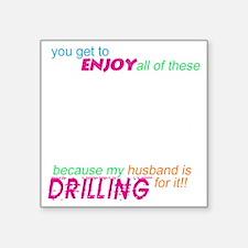 "drilling4u BLK Square Sticker 3"" x 3"""