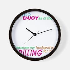 drilling4u BLK Wall Clock