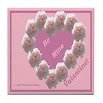 Cecil Brunner, Rose Wreath, valentine Tile Coaster