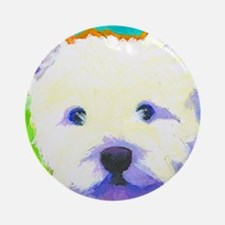 cafepress westie Round Ornament