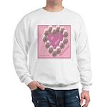 Cecil Brunner, Rose Wreath, valentine Sweatshirt