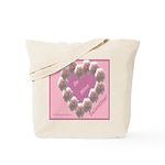 Cecil Brunner, Rose Wreath, valentine Tote Bag