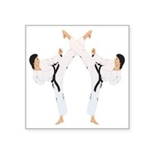 "karate c(blk) Square Sticker 3"" x 3"""