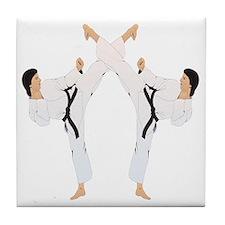 karate c(blk) Tile Coaster