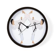 karate c(blk) Wall Clock