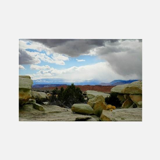 desert_storm_card Rectangle Magnet