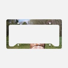 horse_ride_mini_poster License Plate Holder