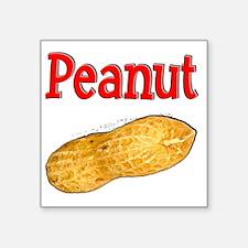 "Peanut 1 Square Sticker 3"" x 3"""