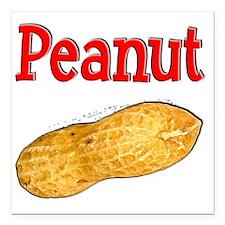 """Peanut 1 Square Car Magnet 3"""" x 3"""""""