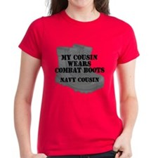 Navy Cousin Combat Boots T-Shirt