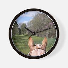 horse_ride_panel Wall Clock