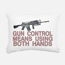 USING BOTH HANDS Rectangular Canvas Pillow