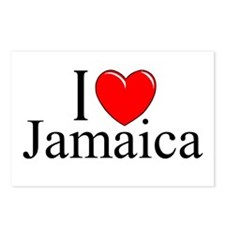 """""""I Love Jamaica"""" Postcards (Package of 8)"""