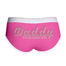 daddy established 2011_dark Women's Boy Brief