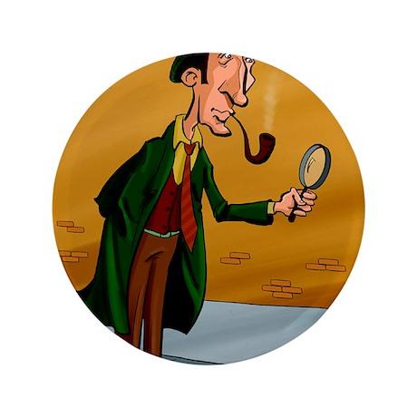 """Sherlockholmes 3.5"""" Button"""