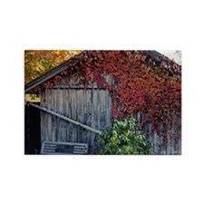 old_barn_calendar Rectangle Magnet