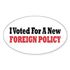 Foreign Policy Oval Decal