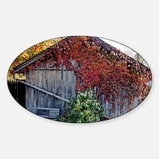 old_barn_mini Sticker (Oval)