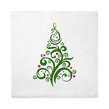 Modern Christmas Tree Queen Duvet