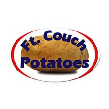 2-Ft Couch Potato t-shirt Oval Car Magnet