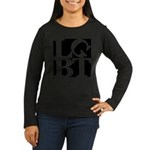 LGBT Black Pop Women's Long Sleeve Dark T-Shirt