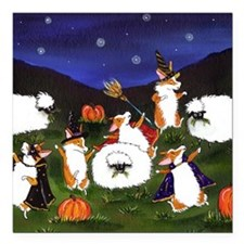 "sheep spooks Square Car Magnet 3"" x 3"""