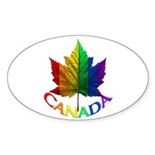 Gay Pride Canadian Souvenir Gifts Oval Decal