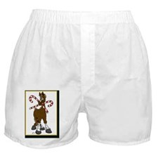 What Horse Christmas Card Boxer Shorts