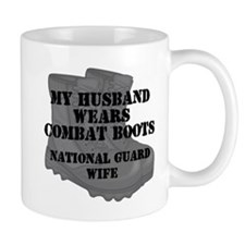 National Guard Wife Husband Combat Boots Mugs