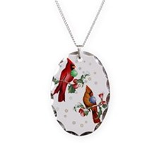 Two Christmas Birds Trans Necklace