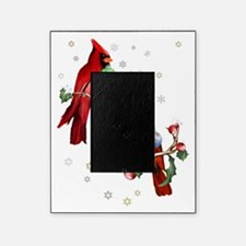 Two Christmas Birds Trans Picture Frame