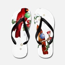 Two Christmas Birds Trans Flip Flops