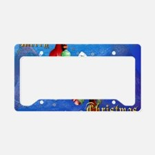 Two Christmas Birds-Yardsign License Plate Holder