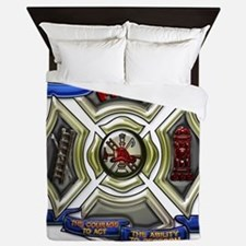 Fire Department Chrest Queen Duvet