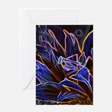 Preying Mantis in Sunflower Glowing  Greeting Card