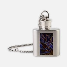 Preying Mantis in Sunflower Glowing Flask Necklace