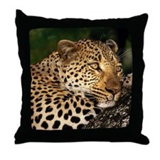 Leopard mousepad Throw Pillow
