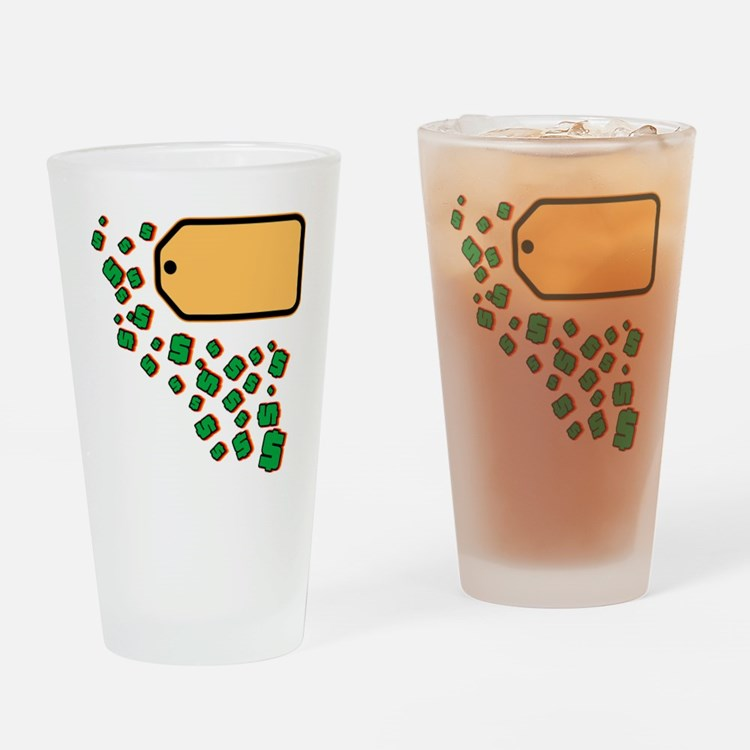 Price Tag Drinking Glass