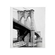 Brooklyn Bridge 1896 Throw Blanket