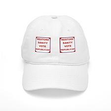 RESTORE SANITY VOTE REPUBLICAN MUG Baseball Cap