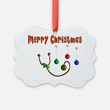 Merry Christmas Stethoscope Ornament