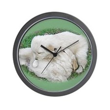 Golden Retriever Puppy Wall Calendar Pa Wall Clock