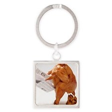 turky-poop Square Keychain