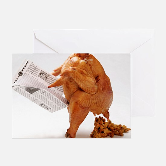 turky-poop Greeting Card