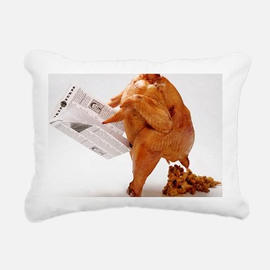 turky-poop Rectangular Canvas Pillow