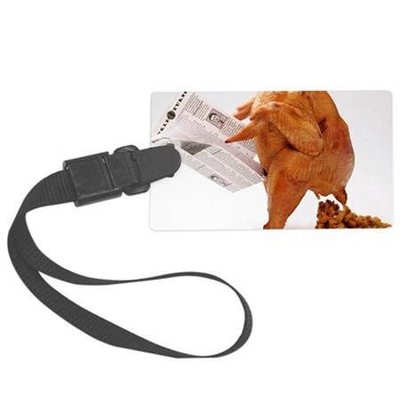 turky-poop Large Luggage Tag