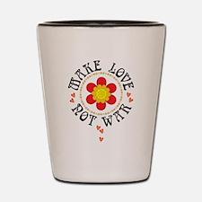 Retro Make Love Not War Shot Glass